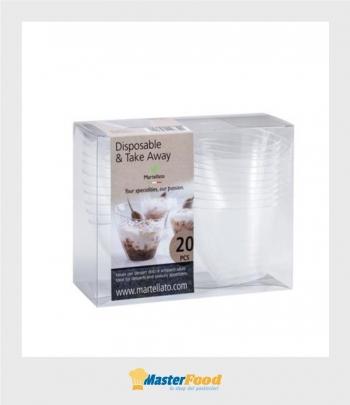 Bicchierino Vela scatola pvc pz.20 Martellato