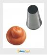 Bocchetta decorative Foro Tondo D.22 mm Inox Martellato