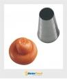 Bocchetta decorative Foro Tondo D.17 mm Inox Martellato