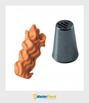 Bocchetta decorative D.20 H37 mm Inox Martellato