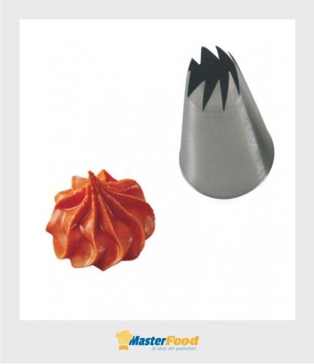 Bocchetta decorative foro Fiore aperto D.15 mm Inox Martellato