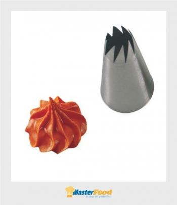 Bocchetta decorative foro Fiore aperto D.11 mm Inox Martellato