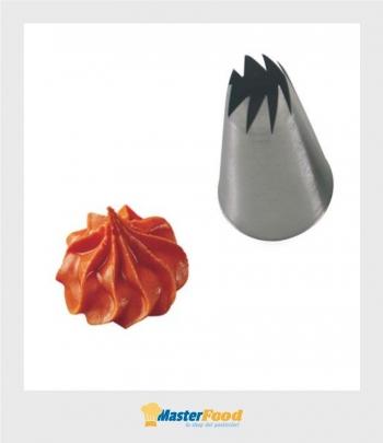 Bocchetta decorative foro Fiore aperto D.13 mm Inox Martellato