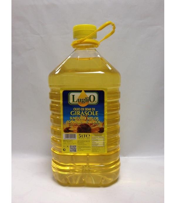 olio di girasole in pet da lt.t