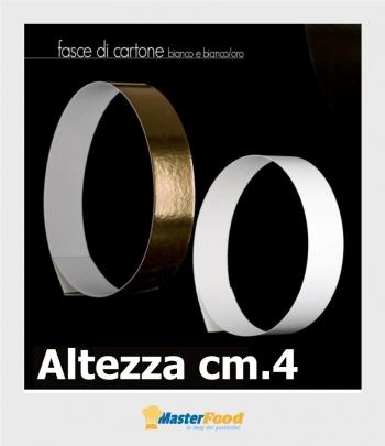 Fascia Bianca stretta di cartone cm.4 (conf.3 pz.) kg.10