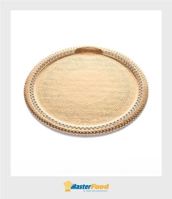 Piatto pizzi apollo cm.28 diametro in cartoncino dorato n.5