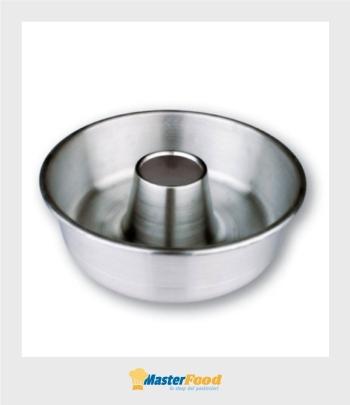 Forma Ciambella dm.24 h 7cm. alluminio