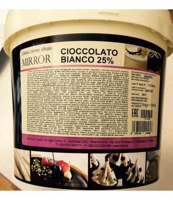 gelatina a specchio cioccolato bianco mirror kg.6 irca